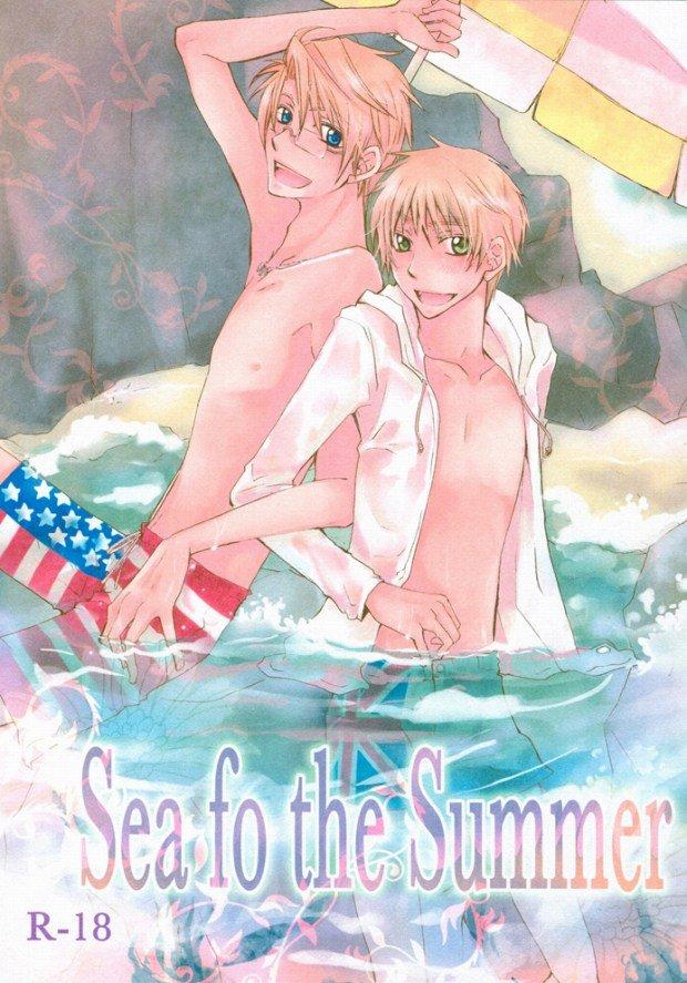 【BLエロ同人誌】アルフレッド×アーサー「Sea fo the Summer」【ヘタリア】
