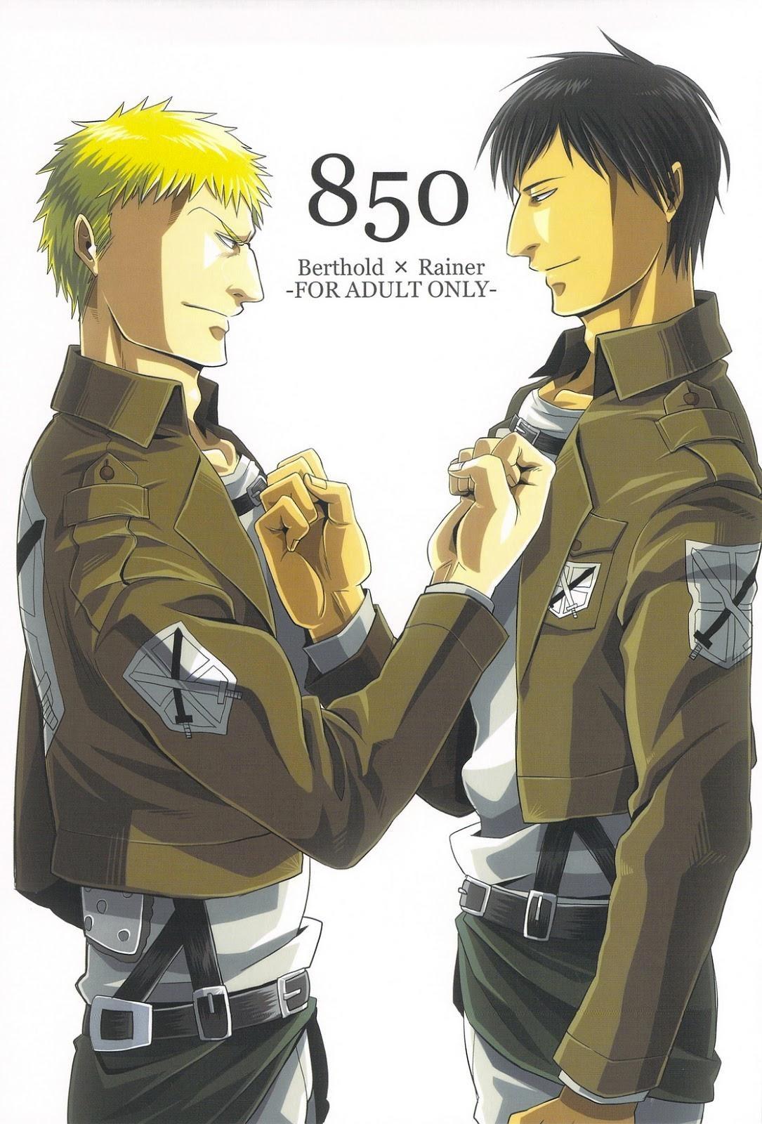【進撃の巨人BLエロ漫画】ベルトルト×ライナー「850」※成人向け【ボーイズラブ同人誌】