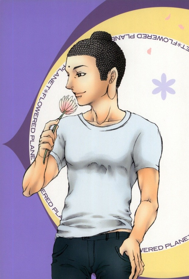 【聖☆おにいさんBL同人誌】ブッダ×イエス「FLOWERED PLANET」※ボーイズラブ【BL無料漫画】