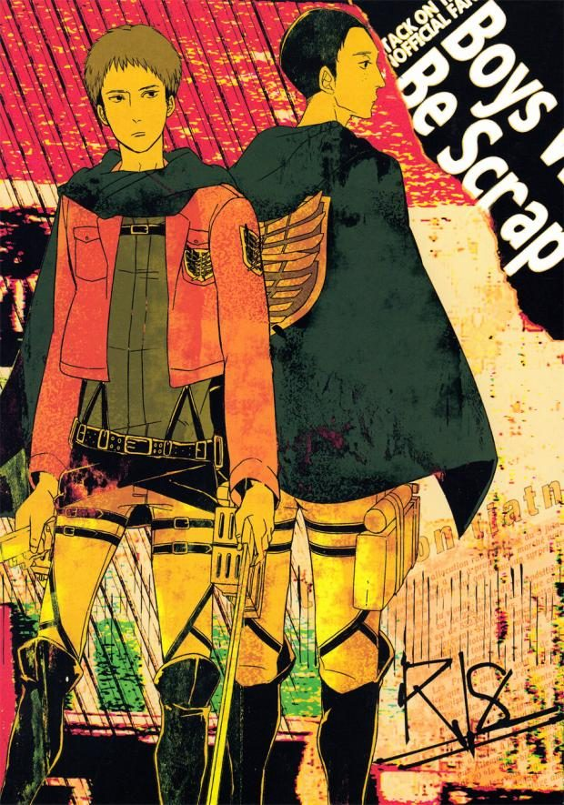 【進撃の巨人BLエロ同人誌】マルコ×ネコ「Boys Will Be Scrap」※18禁【ボーイズラブ漫画】