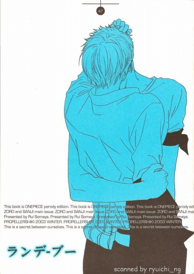 【ONE PIECEボーイズラブ漫画】ゾロ×サンジ「ランデ・ブー」※18禁【BLエロ同人誌】