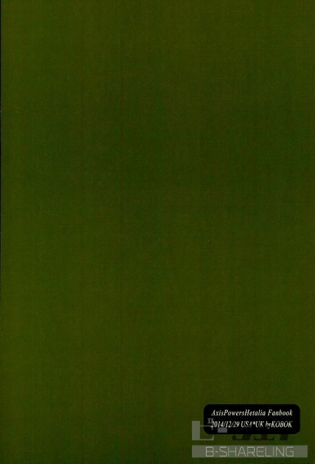 【APHボーイズラブ漫画】アメリカ×イギリス「シークレットガーデン」※BLエロ同人誌【ヘタリア】
