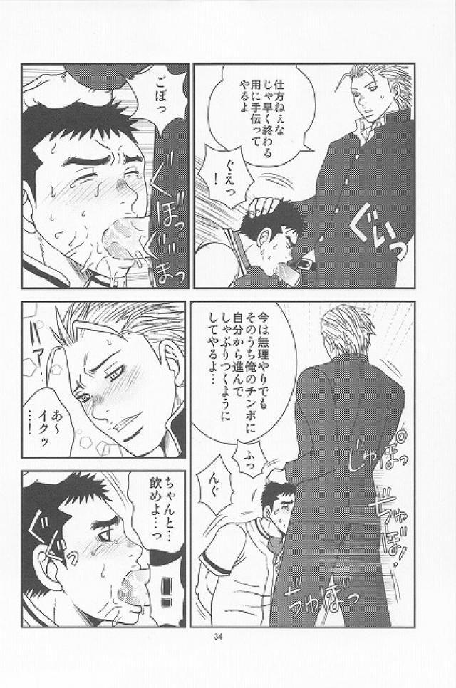 【BL同人誌】ヤンキーな後輩に貞操帯をはめられた野球部男子がらさにローターで調教され…【オリジナル】 029