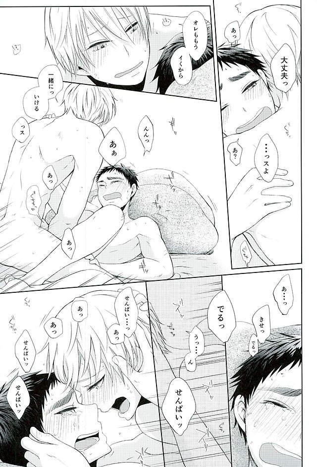【BL同人誌】笠松に告白してキスをする関係になった黄瀬♪キスから手コキ、兜合わせ、セックス・・・進展していく二人の関係にドキドキする1冊!【黒子のバスケ】 051