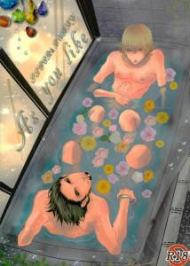 【BL同人誌】2人でお風呂入って、無防備にキスまでさせちゃって、興奮しない訳もなくそのまま入浴セックスwww【TIGER&BUNNY】