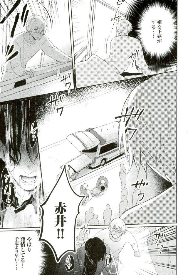 【エロ同人誌 名探偵コナン】お互いに好き合っている赤井と安室。セックスもしたふたり。【無料 エロ漫画】 020
