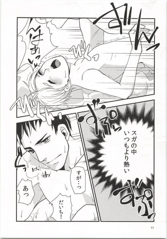 【ハイキュー!! エロ同人】バレンタインのチョコをあげたらお酒入りだったらしくて…w【無料 エロ漫画】 (10)