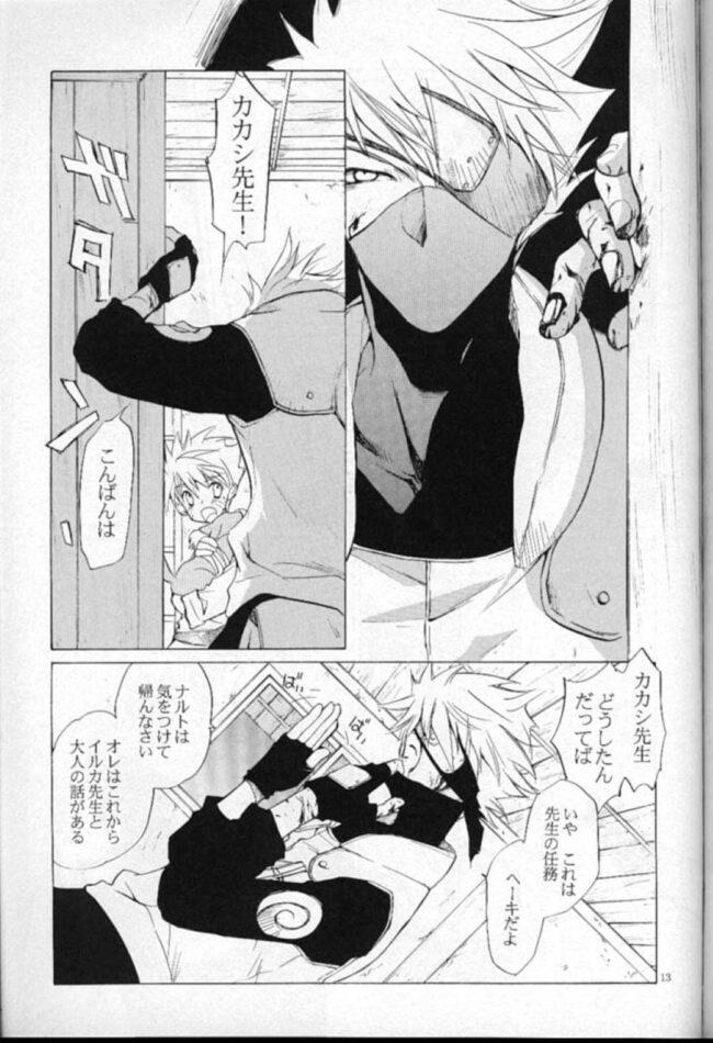 【NARUTO-ナルト- エロ同人】カカシは自分を洗ってくれるイルカの元へ行ってセックスするwww【無料 エロ漫画】 (12)