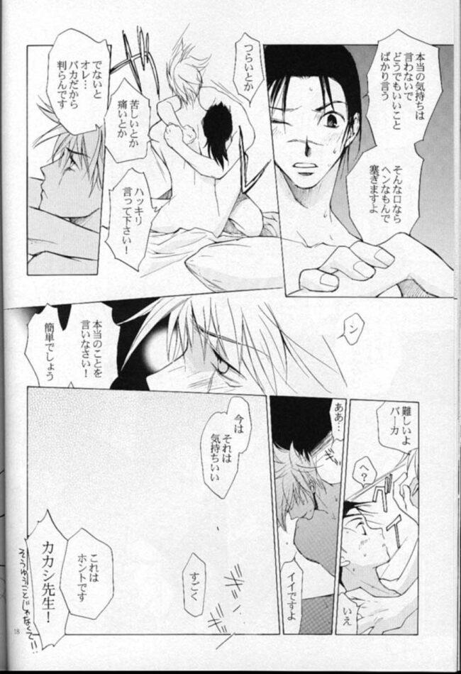【NARUTO-ナルト- エロ同人】カカシは自分を洗ってくれるイルカの元へ行ってセックスするwww【無料 エロ漫画】 (17)